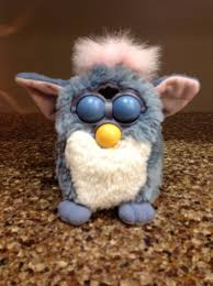 Furby Sales Chart Furby 1998 Blue White Pink Mohawk Green Eyes Tiger