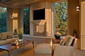 custom fireplace screens porch traditional with area rug covered fireplace hearth lanterns outdoor