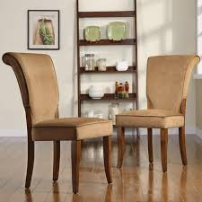 andorra peat velvet upholstered dining chair set of 2 by inspire q clic
