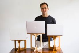 stand at desk to work the portable standing laptop standstand 10