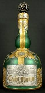 daum cameo gl grand marnier liquor bottle