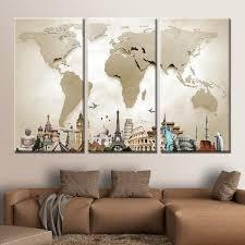 world map masterpiece multi panel canvas wall art on photo canvas wall art with world map masterpiece multi panel canvas wall art elephantstock