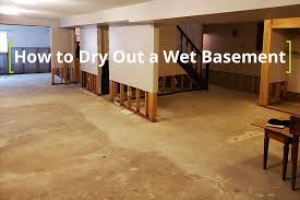 how to dry out a wet basement fast