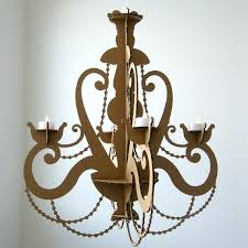 tea light chandelier cardboard candle hanging faux lighting outdoor