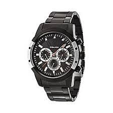 police watches men debenhams police men s black bracelet watch 14528jsbs 02m