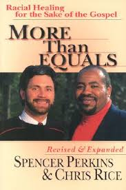 Book cover: More Than Equals. Picture of authors Spencer Perkins and Chris Rice