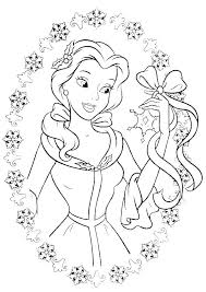 Disney Belle Coloring Pages Coloring Belle Coloring Page Easy Pages