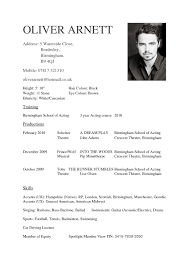 How To Write An Acting Resume Inspirational Actors Resume Template