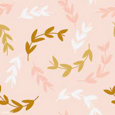 Simple pattern of branches on pink ...