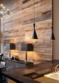 wood wall planks contemporary sleek dining room with rustic wood plank wall diy wood plank wall