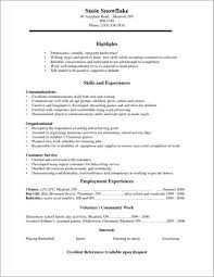 Job Resume Samples For High School Students Gentileforda Com