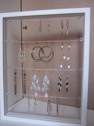 diy earring holder diy earring display as gold hoop earrings