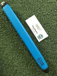 details about the grip master the paddle leather golf putter grip neon blue