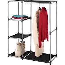 whitmor resin garment rack and shelves blackgray book display racks