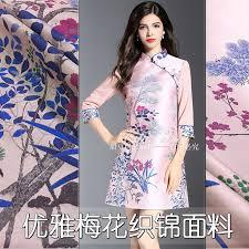 155cm wide high-end jacquard fabric <b>spring and autumn</b> small <b>plum</b> ...