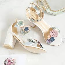 <b>Flower</b> Fairy White 7 cm Office Beading <b>Appliques</b> High Heels Prom ...
