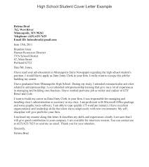 How To Write A Cover Letter Student Summer Job Cover Letter For A