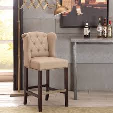 tufted bar chairs. Interesting Bar Copper Grove Margo Linen Fabric Tufted Wingback Counter Stool Inside Bar Chairs