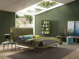 Latest Interiors Designs Bedroom Bedroom Bedroom With Green Wall And Green Bedding Bolzan Sheen