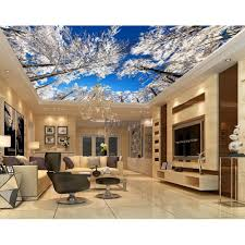 Pvc Roof Design Us 90 0 Hotel Decoration Materials Digital Printed And Uv Printing Blue Sky Design Roof Ceiling Design In Wallpapers From Home Improvement On