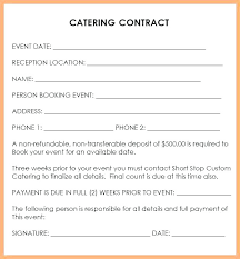 Catering Agreement Catering Contract Sample Template Agreement Forms Bhimail Co