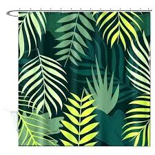 pictures of leaves to print leaf print shower curtain bathroom shower curtains dark green leaves print