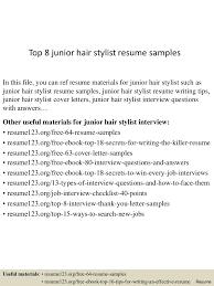 Hair Stylist Resume Cover Letter Impressive Hair Stylist Resume Examples With Hairstylist Samples 48
