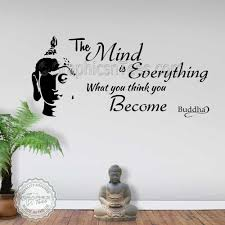 the mind is everything buddha inspirational wall sticker e decor decal