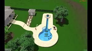 Guitar Shaped Swimming Pool - Interior Design