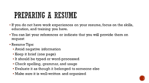 Applying For A Job Section Ppt Download