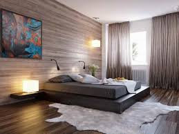 Stylish Bachelor Pad Bedroom Ideas Platform Bed Modern Rug Decorative Wall