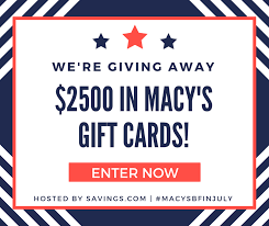 macy s 2500 gift card giveaway 50 winners saving dollars sense