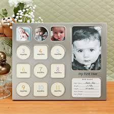 baby collage frame my first year baby collage frame in pewter fashion craft
