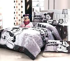 queen size mickey mouse bed set full bedding sets grey fitted sheet disney mic mickey mouse black white reversible queen quilt cover set new bedding