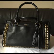 Coach Legacy Haley Satchel In Studded Leather