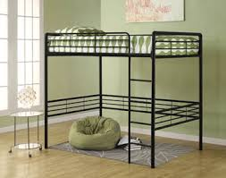 The high-quality metal frame is durable, solid and secure. Some assembly  required. For any room and anybody, DHP's Metal Full Loft Bed in black will  fit ...