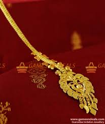 Gold Nethichutti Designs With Price Ncht05 Medium Size Gold Plated Traditional Nethi Chutti