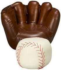 sport themed baseball glove chair baseball ottoman belfort furniture chair ottoman home ottomans gloves and room