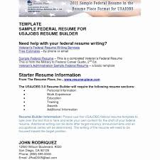 Usa Jobs Resume Format Impressive Usajobs Resume Format Sample For Federal Government Job 20