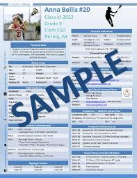 Lacrosse Athletic Profile One Pager Template