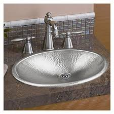 hammered nickel sink. Brilliant Nickel Monarch Hand Hammered Nickel Oval DropIn Bathroom Sink In R