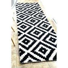 black and white chevron rug off handmade abstract pixel trellis wool runner 2 zig zag ikea