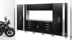 details about metal garage cabinets set mechanic tool storage shelves tall locker boxes system