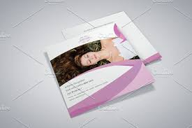 Spa Brochure Template Fascinating Beauty Salon Square Trifold Brochure Brochure Templates Creative