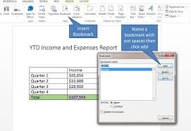 Use Bookmarks In Microsoft Word To Cross Reference A Formula Link