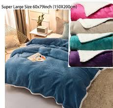 solid warm sherpa throws sofa bed