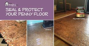 copper penny floor part 4 of 4 sealing the floor pennyfloor pretty purple door