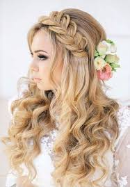 Pin by Lynette Carpenter on Hair designs braided front down in back | Wavy  bridal hair, Womens hairstyles, Prom hair