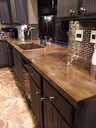 Diy Tile Kitchen Countertops Building And Installing Diy Concrete Countertops Smooth