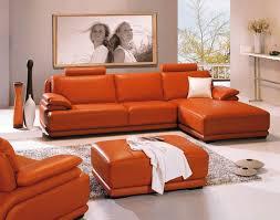 Orange Sofa Testimony and Example Fancy Leather Orange Sofa